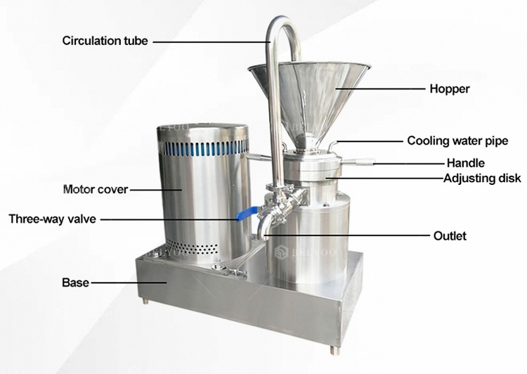Hot chilli sauce making machine /peanut butter grinder /szechuan sauce grinding machine small colloid mill