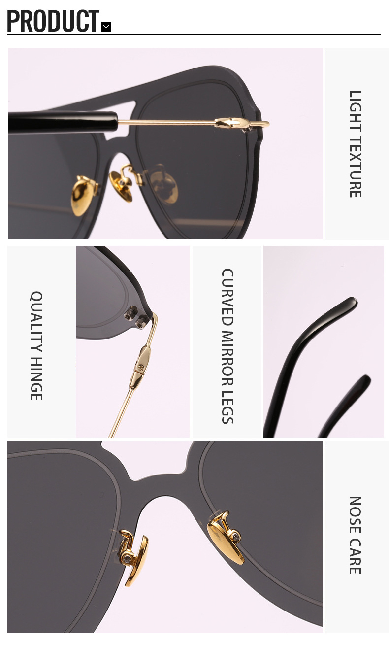 2019 Vintage Colorful Driving Rimless Custom Logo UV400 Women Eyewear