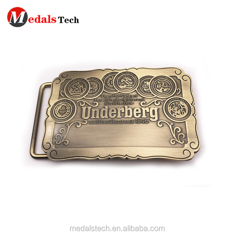 High quality make metal simple  logo belt buckle for man