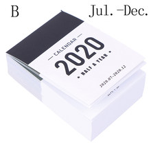 2020 милый календарь мини-стол пол года календарь офисная школа рабочий график обучения планировщик канцелярские принадлежности(Китай)