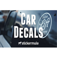 Outdoor Use Custom Weatherproof Die Cut Logo Window Sticker Lettering Decals Custom Transfer Car Vinyl Decal