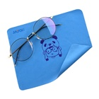 free sample low price silk screen prinited microfiber glasses lens cleaning cloth