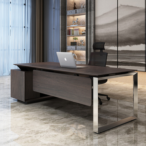 Office furniture executive desk modern boss table l shape director table DIA