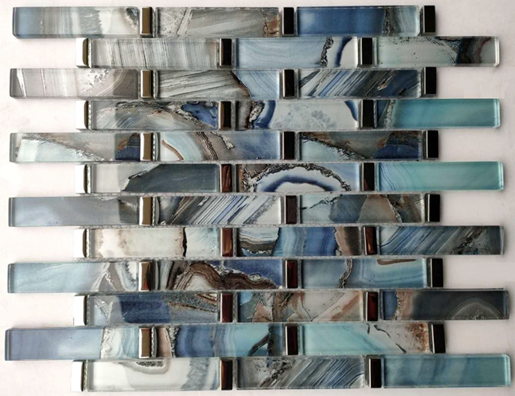 Super maket Top Selling Laminated Glass Mosaic tile from Foshan China