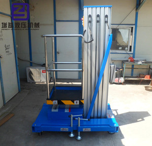 aluminum alloy double mast man lift single person lift folding container ramp