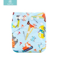 Happyflute bulk washable diaper adjustable pocket baby cloth diapers reusable diaper