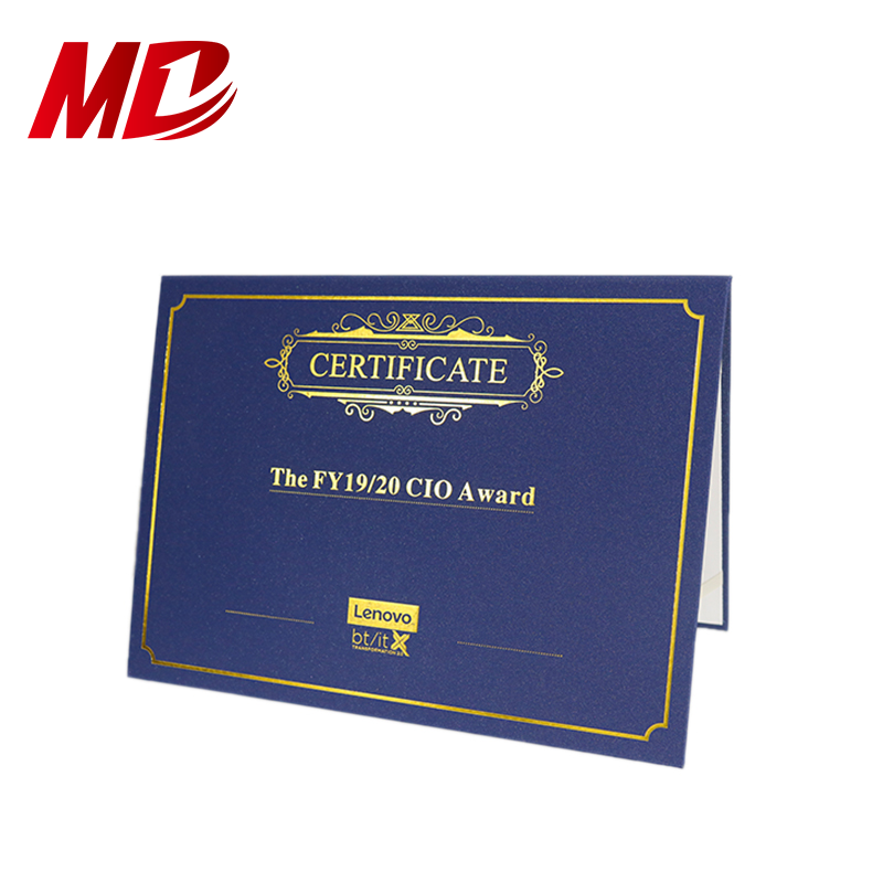 Royal Blue Paper Diploma Covers Certificate Holders 8.5