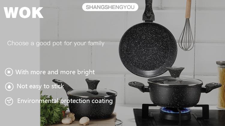 Karbon çelik yapışmaz kaplama pişirme wok