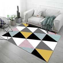 Летние ковры с цветочным принтом, современные, для гостиной, дома, скандинавские, спальни, прикроватные одеяла, мягкие, для учебы, для пола(Китай)