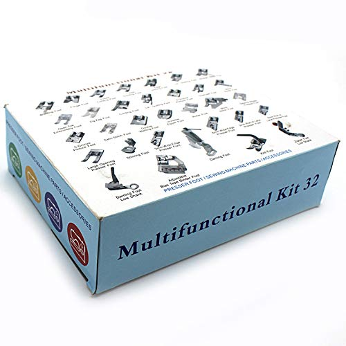 Presser Feet 32Pcs Deluxe Package for Low Shank Sewing <strong>Machine</strong> Use Brother Singer Janome Simplicity Domestic Sewing <strong>Machine</strong> <strong>Part</strong>