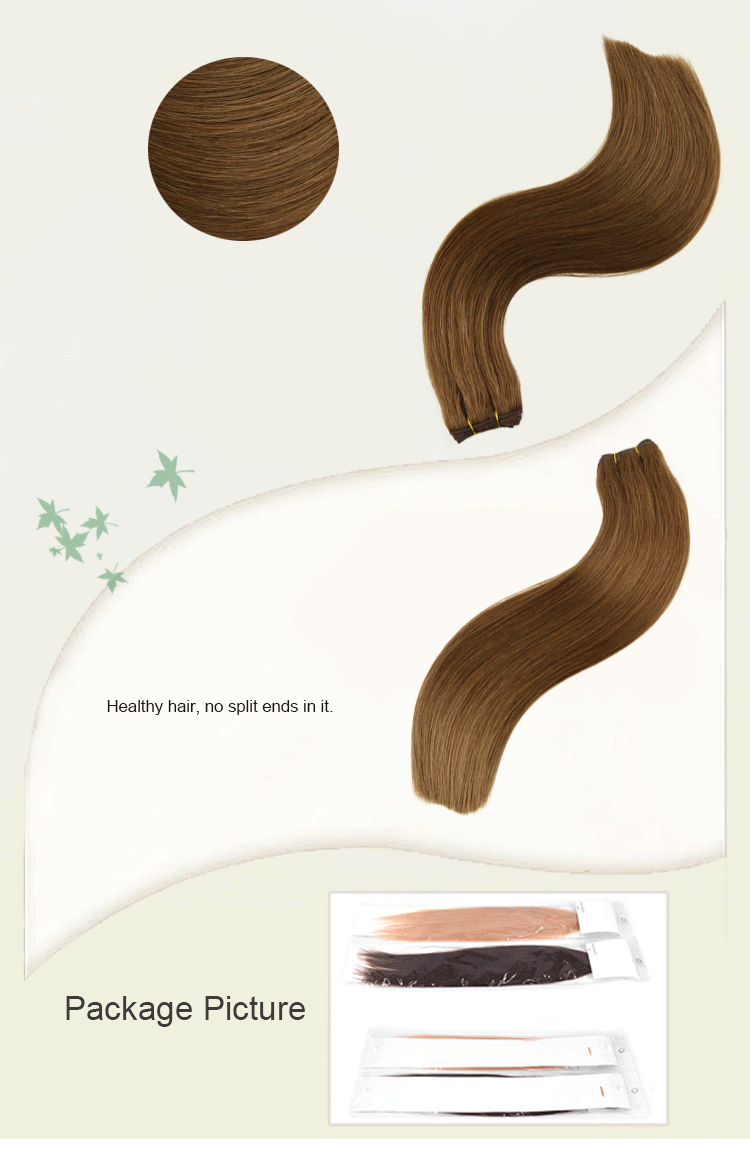 New product silky straight virgin remy hook loop human hair weft for hat
