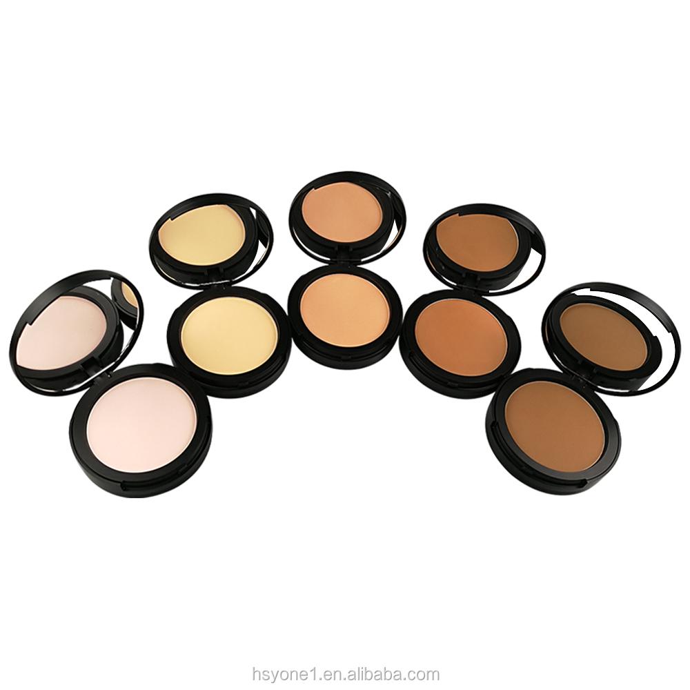 Fórmula melhorada do produto personalizado de alta qualidade fundação rosto pressionado paleta pó 5 cor maquiagem cosméticos beleza