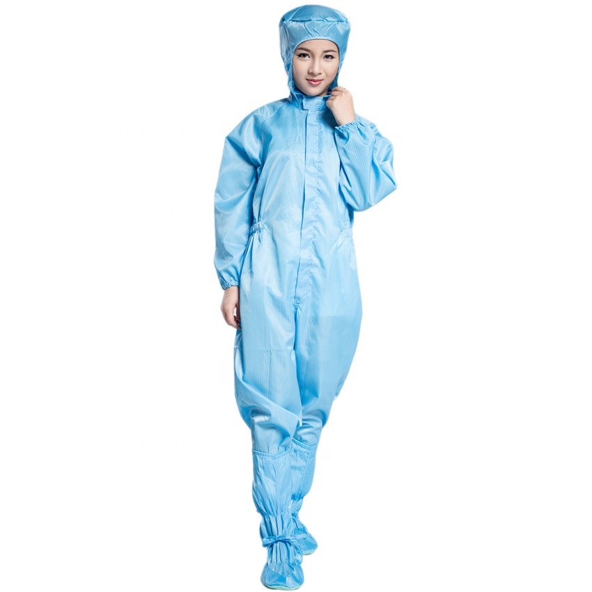 Washable Dust Free Anti Static Cleanroom Jumpsuit Coverall ESD Garment For Pharmaceutical Industry - KingCare | KingCare.net