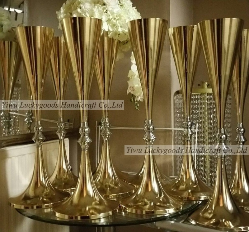 LDJ293-candelabro de oro para boda, superventas, 70cm de altura, centro de mesa, 2019