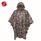 Rain Camouflage Poncho Custom Reusable Rain Coat Poncho With Camouflage Pattern For Military