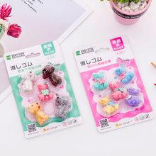 3 комплекта, креативные резиновые ластики с милой собачкой и медведем, Детские ластики, милые подарки, студенческие Обучающие корейские кан...(Китай)