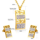 Jewellery Wedding Vintage Jewellery Gold Necklace Stainless Steel Brand Wedding Bridal Jewelry Sets