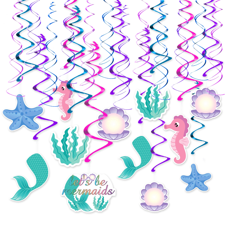 Della sirena festa a tema decorazione ragazze festa di compleanno swirl hanging rifornimenti del partito della decorazione impiccagioni