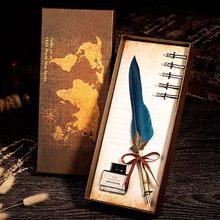 Горячая Распродажа, перьевая каллиграфическая ручка в Королевском Стиле, чернильные чернила для студентов, перьевая ручка, Подарочная коро...(Китай)