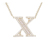01078 Xuping Cool and handsome letter X New Two-Tone 925 Silver alphabet Necklace with Small Cubic Zirconia