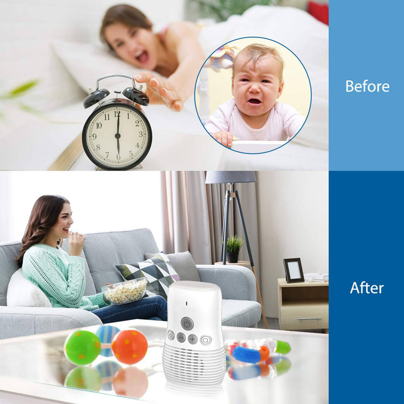 Two-Way Talkback Intercom Portable Digital Audio Baby Monitor HD Sound Listening System with Belt Clip