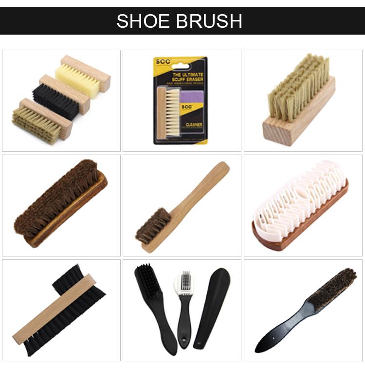 Oak wood Hard pp hair medium plastic hair soft pig hair  brush sneaker shoe cleaning brush