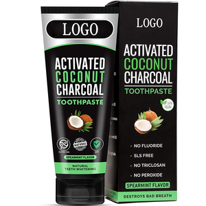 OEM brands eco friendly natural teeth whitening coconut oil organic baking soda charcoal toothpaste