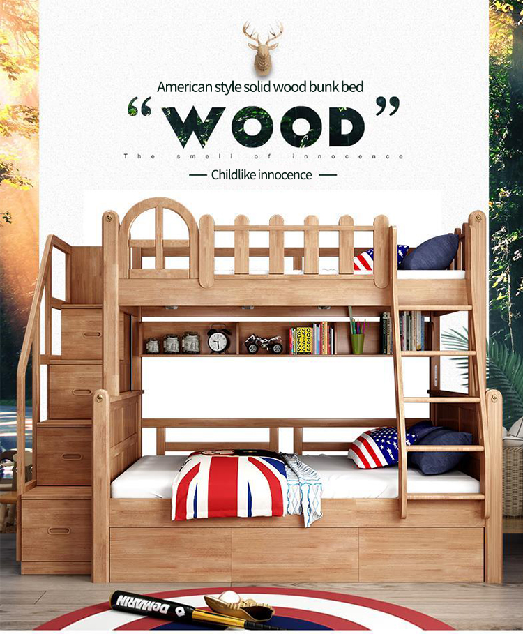 Twin Size Loft Kids Wooden Bunk Bed For Boys Full Size Bed King Queen Size Bed Buy Loft Kids Wooden Bunk Bed King Queen Size Bed Kids Bunk Bed Product On Alibaba Com