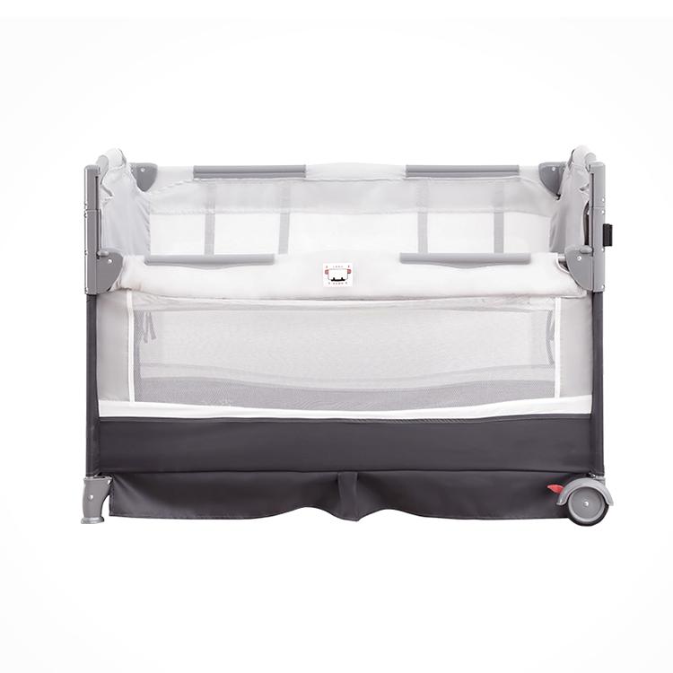 Modern Indoor Outdoor Portable Easy Folding Waterproof Foldable Playard Canopy Bumper Set Babies Bed Baby Crib