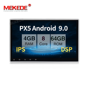 MEKEDE PX5 10.1inch Octa core android 9.0 with DSP IPS car dvd player 1 din universal car radio video system with 4+64GB GPS BT