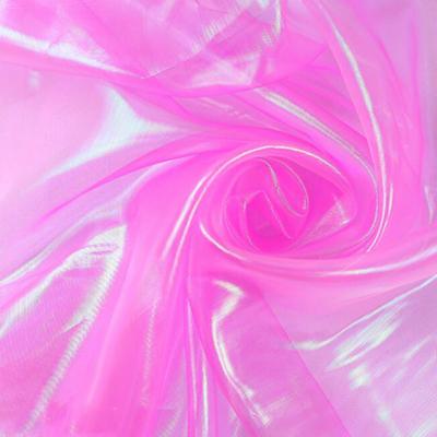 100*150 см дизайнерская цветная блестящая флуоресцентная ткань марля ткань для сцены вуаль Свадебный декор прозрачная голографическая ткань(Китай)