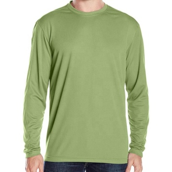 Long sleeve polyester/cotton rayon blended T-shirt, factory direct sale