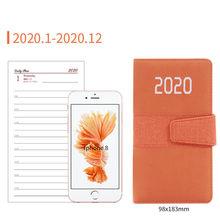 Органайзер для ноутбука, школьные принадлежности, стационарный Еженедельный дневник A6, ежемесячный график 2020, Офисная программа, портативн...(Китай)
