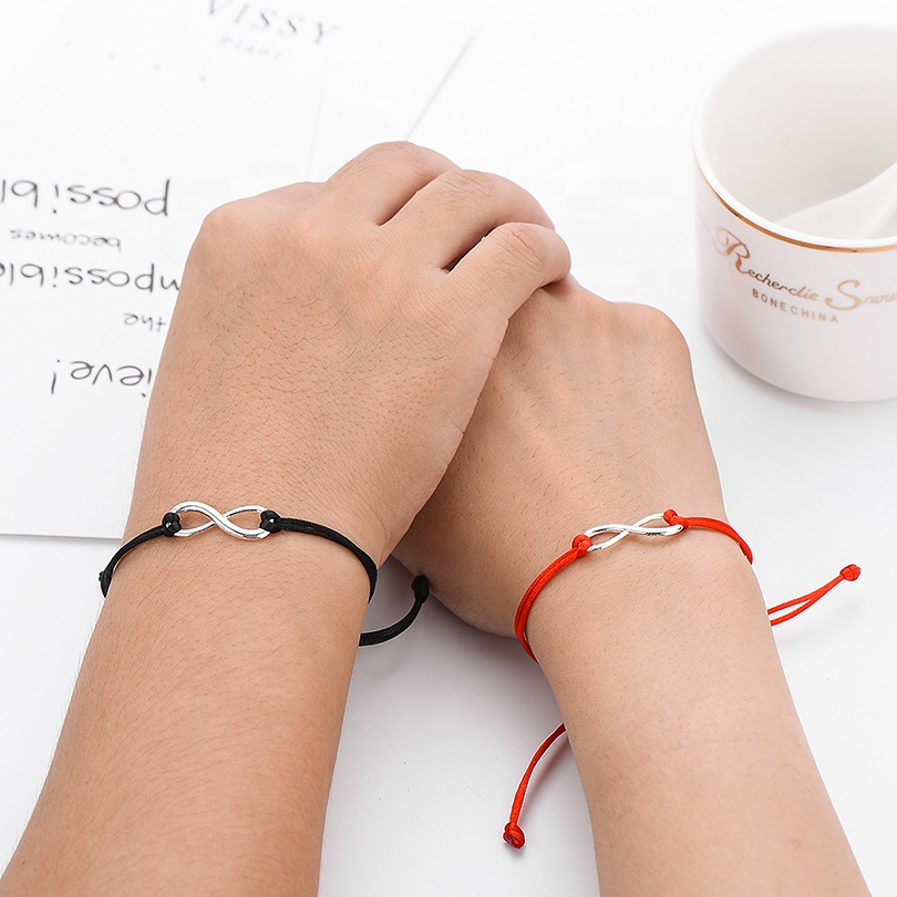 2 Cái/bộ Cùng Nhau Mãi Mãi Tình Yêu Infinity Bracelet Đối Với Lovers Red String Couple Vòng Tay Phụ Nữ Nam Giới Wish Jewelry Quà Tặng