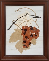 Asian Style Marble Square Mural Grape Art Mural