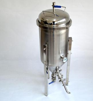 7Gallon Stainless Conical Beer Fermenter with all home brewing accessories Wooden Case Protected Micro Brew Homebrew