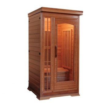 Family use traditional dry steam wooden sauna house 1.5*1.5*2.05m sauna cabin