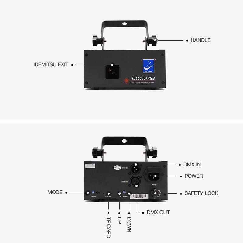 Laser Full Color Animation BETOPPER RGB 1w DJ Laser Light Show Projector SD10000+RGB