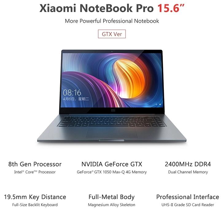 Xiaomi Mi Notebook Pro 15.6 Computers Fingerprint Recognition Laptop Notebook Gaming Computer PC