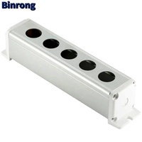 16/19/22mm 5 hole Aluminum Alloy Push Button Switch control Box