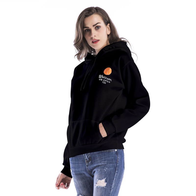 Long Sleeve Winter Thickening OEM High Quality Custom Logo Hoodie For Women