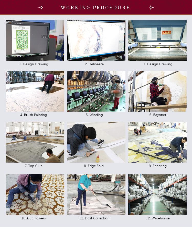 Ev Salon Kat Yün 100% Çin Nz Yün Alan Halı Ve Kilim