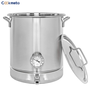 Brew Pot 10 Gallon Stainless Steel Pot - Kettle Brew Kettle 10 Gallon for Beer Brewing
