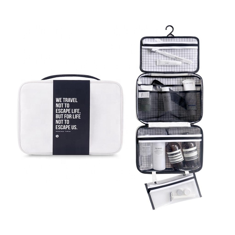White toiletry bag, white tyvek pouch travel lightweight tyvek toiletry bag