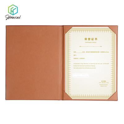 مخصص التخرج دبلوم غطاء A4 مجلد شهادة جلدية حامل