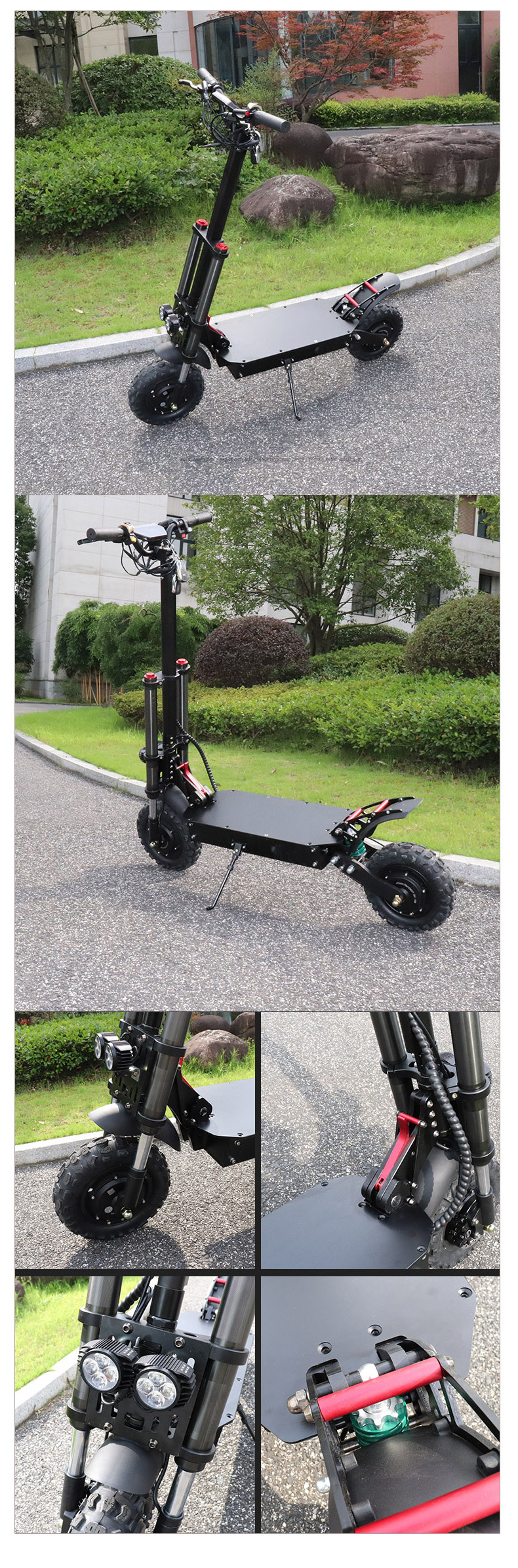 Powerful 3200W Electric Scooter with 11inch Motor Wheel 105km 35AH Battery Adult kick e scooter folding patinete electrico