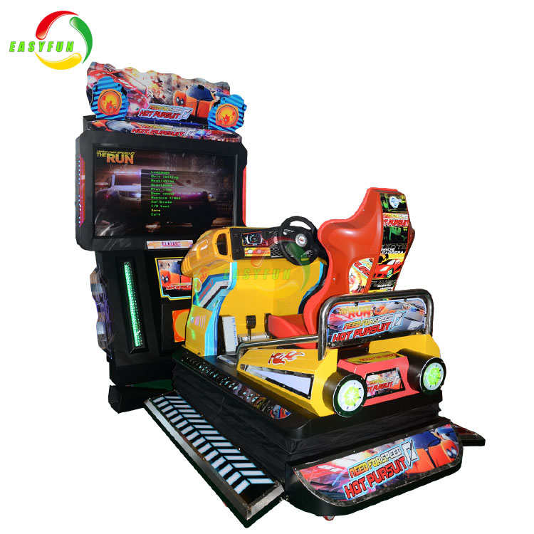 New indoor racing game coin operated video race driving car game machine