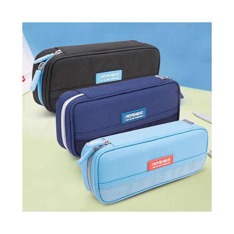 custom Canvas Large capacity High quality Zipper Pencil case for students