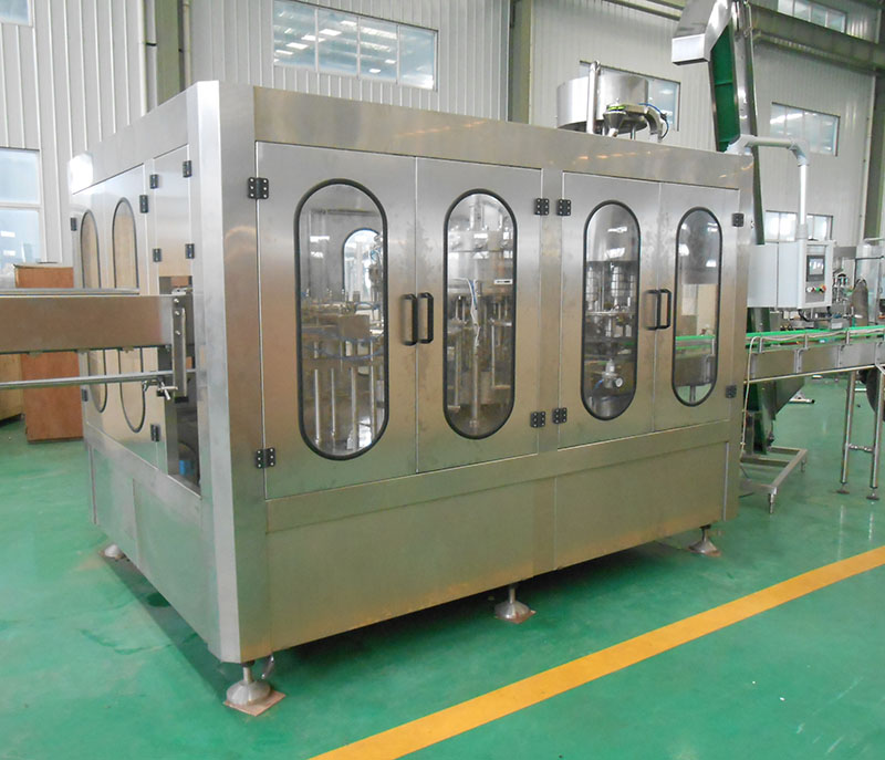 3 in 1 PET glass bottle aseptic filling capping machine for soda beer soft drink