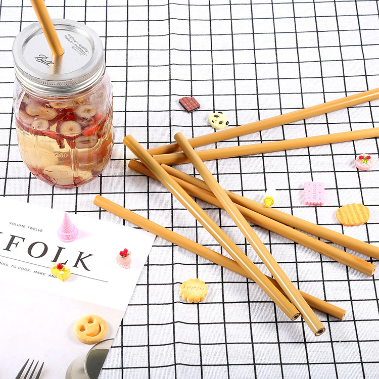 Organial payet ve temiz fırça doğal sarı bambu hasır seti dekorasyon hediye parti olay malzemeleri